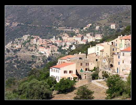 Le village d'Occhiatana en Balagne