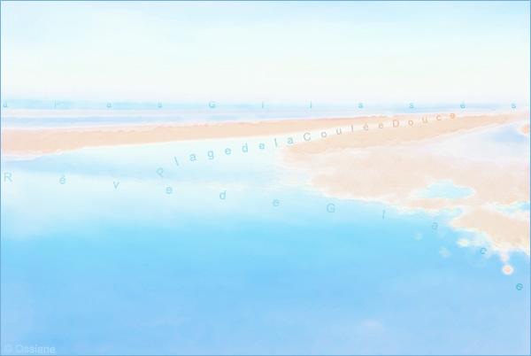 Rêve de glace, plage de la coulée douce, à pas glissés