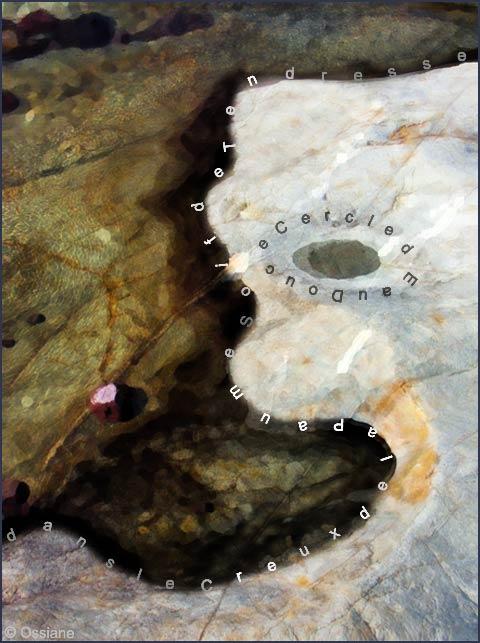 Cercle d'eau douce dans le creux de la paume, soif de tendresse