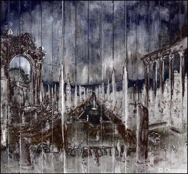 Maison aux volets clos, sous les planches disjointes, la porte d'Italie