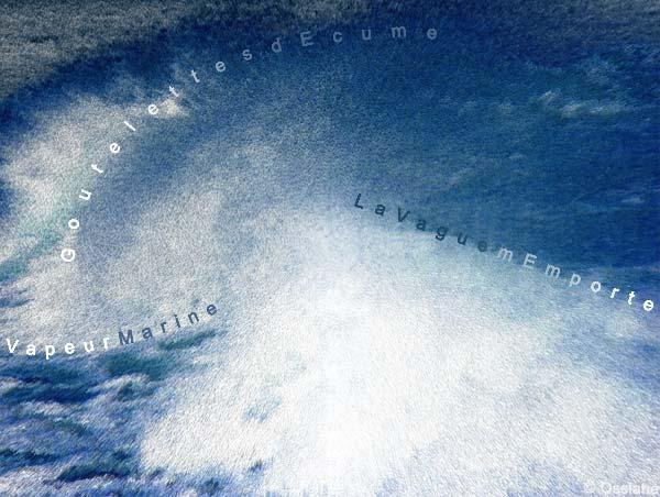 Vapeur marine, Goutelettes d'écume, la vague m'emporte