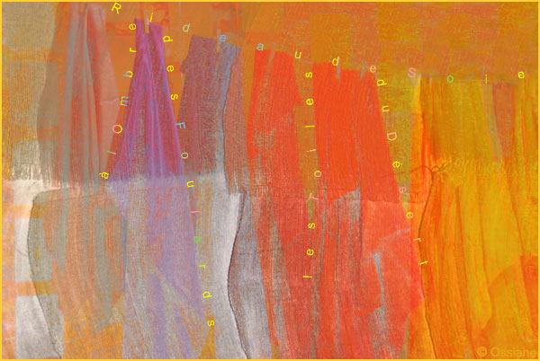 Rideau de soie, à l'ombre des foulards, les toiles du désert