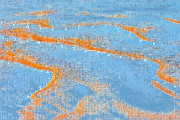 Sauvage et féline, en lassos de lumière, la rive enlacée