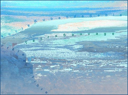 Frêle équilibre sur le ruban de sable, terre sauvage