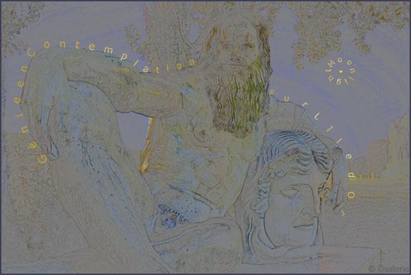 Moonlight, génie en contemplation sur l'île d'Or