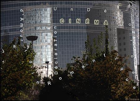 Jardin romantique, un décor de cinéma, déclaration d'amour