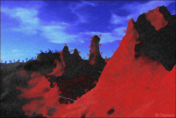 le bleu pervenche, le rouge colorado, le sentier des fées