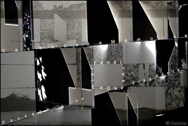 Fenêtres en damier, cases de la mémoire, paysage en fragments
