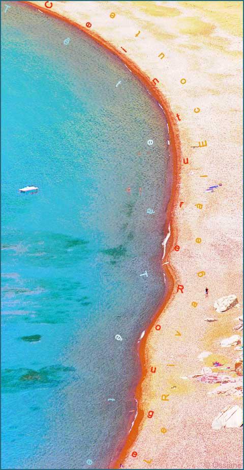 Tête à tête, le rivage à l'écoute, ceinture rouge