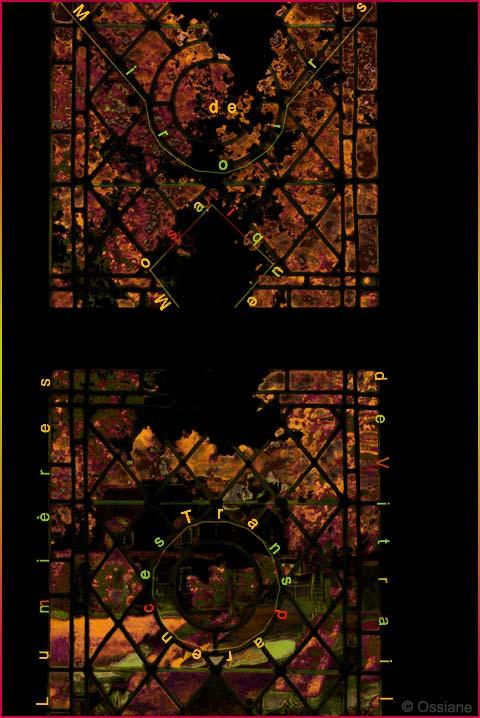 Lumières de vitrail, mosaïque de miroirs, transparences