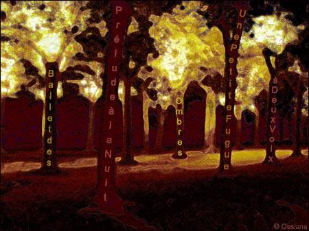 Prélude à la nuit, une petite fugue à deux voix, ballet des ombres