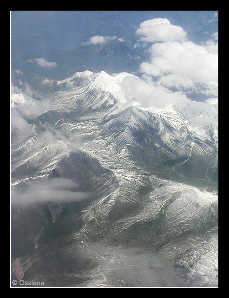 Les Alpes en vue aérienne